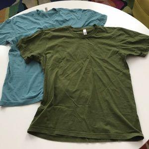 American apparel Two men's medium crewneck tees